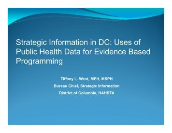 Strategic Information in DC - Urban Coalition for HIV/AIDS ...