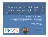 Advancements in HIV Prevention, Care, Treatment and Evaluation