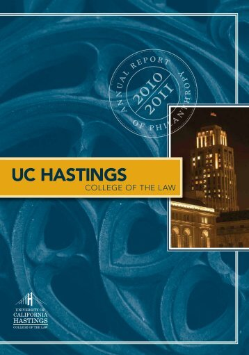 Annual Report 2010-11 - Hastings College of the Law