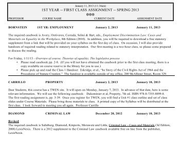 first year law assignment First assignments links to available first assignments are listed below: first assignments fall 2018 first assignments summer 2018 first assignments spring.