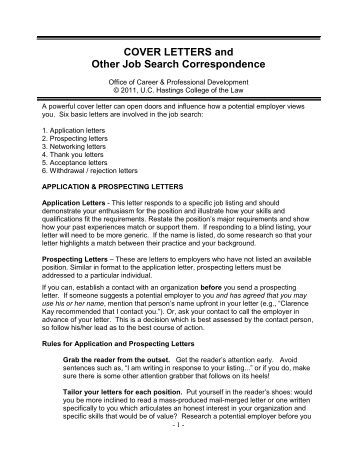 High Impact Cover Letter Workbook - Long Island University