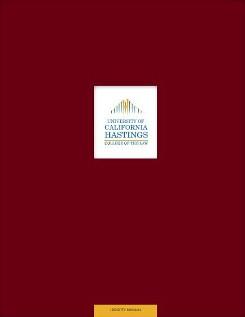 IDENTITY MANUAL - Hastings College of the Law