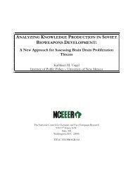 Analyzing Knowledge Production in Soviet Bioweapons Development