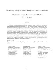 Estimating Marginal and Average Returns to Education - UCL