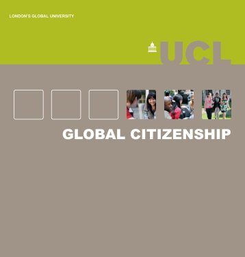 Education for Global Citizenship booklet - UCL