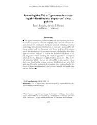 Removing the Veil of Ignorance in assess- ing the ... - UCL