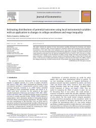 Estimating Distributions of Potential Outcomes Using ... - UCL