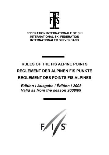 Edition 2008 - International Ski Federation