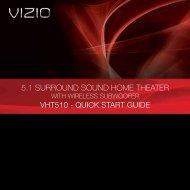 5.1 SURROUND SOUND HOME THEATER - Vizio