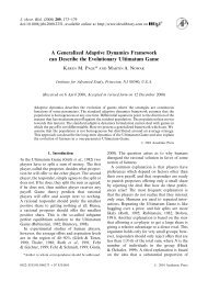 A Generalized Adaptive Dynamics Framework can Describe the ...
