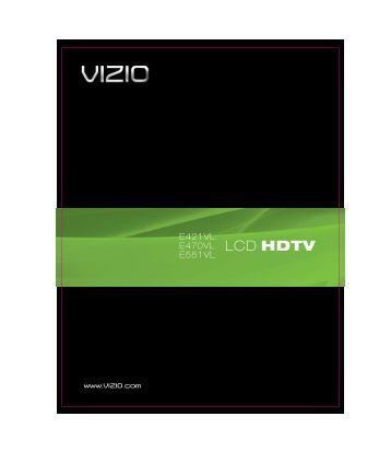 E551VL User Manual - Vizio