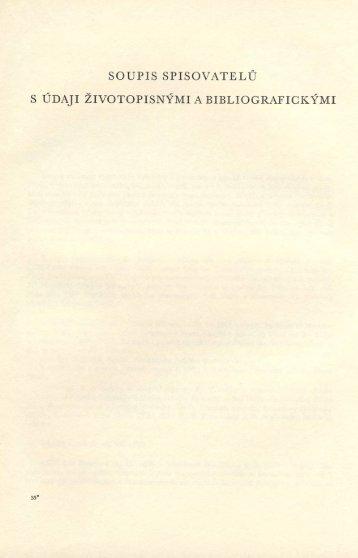 Soupis spisovatelů s údaji životopisnými a bibliografickými
