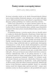 Český román a evropský kánon - Ústav pro českou literaturu AV ČR ...