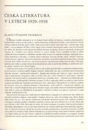 Česká literatura v letech 1929-1938 (Jiří Brabec)