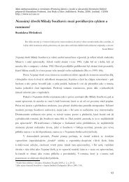 Neznámý člověk Milady Součkové - Ústav pro českou literaturu AV ...