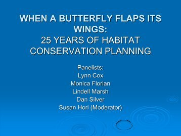 25 years of habitat conservation planning - UCLA Extension