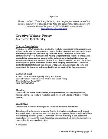 Ucla extension creative writing