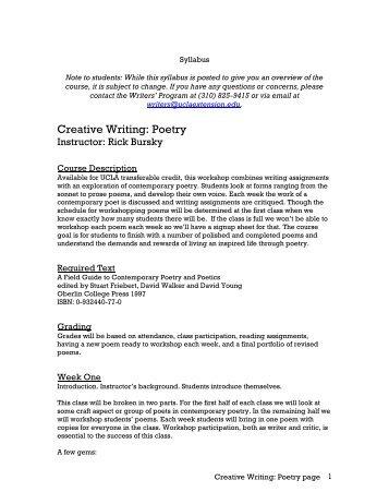 creative writing ucla