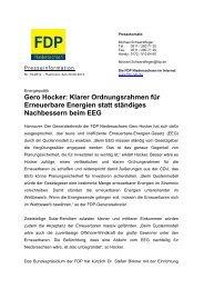 Gero Hocker: Klarer Ordnungsrahmen für ... - FDP Niedersachsen