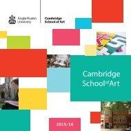 Cambridge School of Art brochure 2014-15