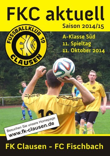 FKC Aktuell - 11. Spieltag Saison 2014/2015
