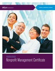 Nonprofit Management Certificate - UCLA Extension