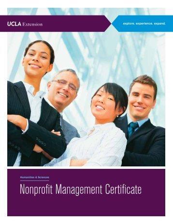 Nonprofit Management Certificate - UCLA Extension
