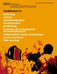 directing acting cinematography development ... - UCLA Extension