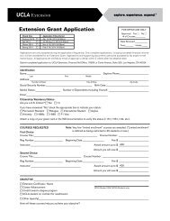 Extension Grant Application - UCLA Extension