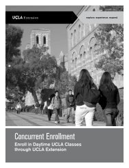 Concurrent Enrollment Brochure - UCLA Extension