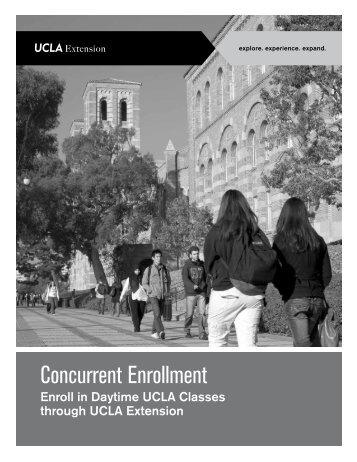 Concurrent Enrollment Brochure - UCLA Extension