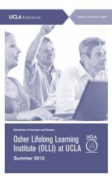 Osher Brochure Summer 2012 - UCLA Extension