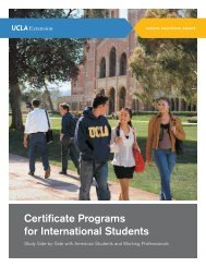 Certificate Programs for International Students - UCLA Extension