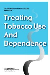 Treating Tobacco Use and Dependence: A Quick Reference Guide ...