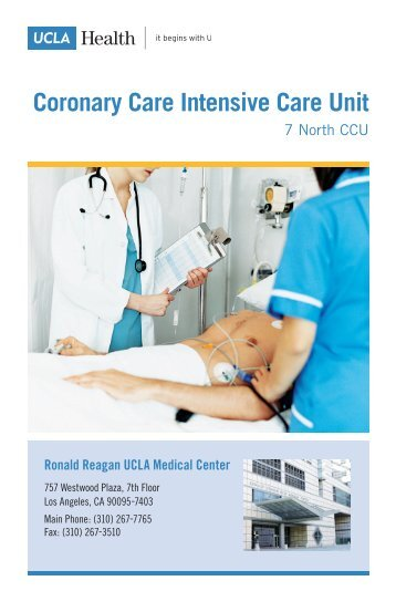 Coronary Care Intensive Care Unit - UCLA Health System