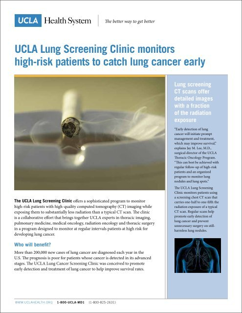 Print Clinic Brochure (PDF) - Lung Cancer Program - UCLA