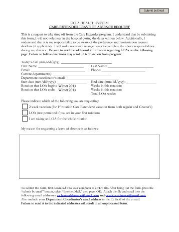 Reinstatement Supplemental Information Form for Leave of Absence ...