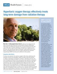 Hyperbaric oxygen therapy effectively treats long-term damage from ...