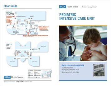Pediatric Intensive Care Unit (PICU) - UCLA Health System
