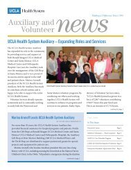 Auxiliary and Volunteer - UCLA Health System