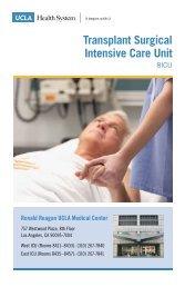 Transplant Surgical Intensive Care Unit (8ICU) - UCLA Health System