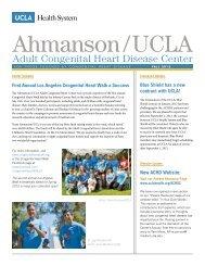 Adult Congenital Heart Disease Center - UCLA Health System