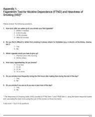 Appendix 1. Fagerström Test for Nicotine Dependence (FTND) and ...