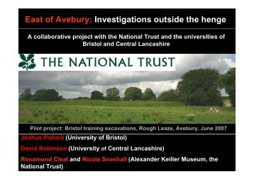 East of Avebury - University of Central Lancashire