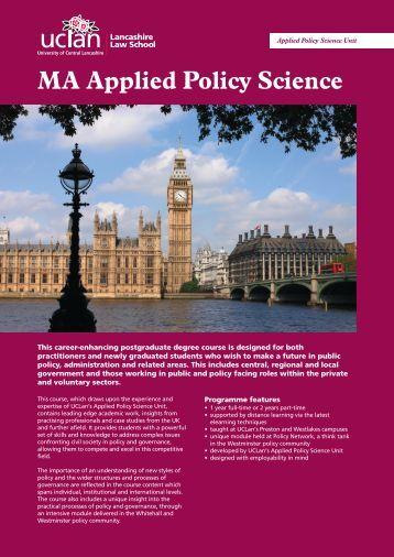 Course - University of Central Lancashire