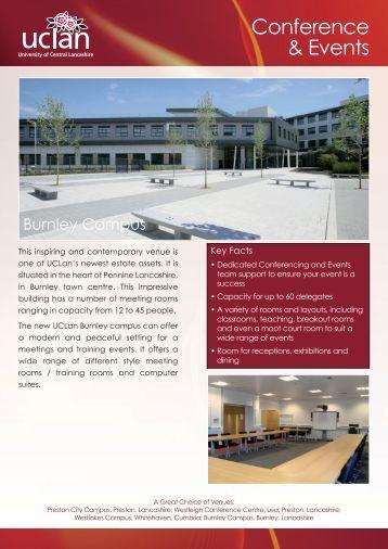 Burnley brochure - University of Central Lancashire