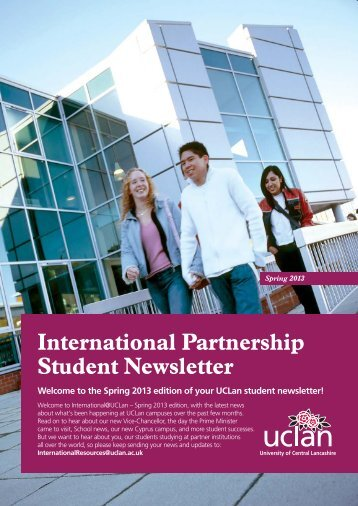 International Partnership Student newsletter - Spring 2013 edition
