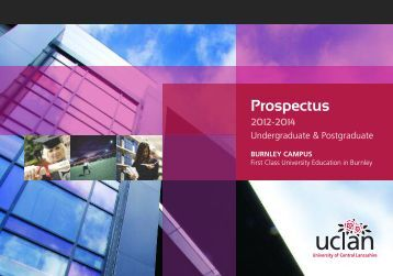 Download a prospectus - University of Central Lancashire