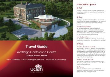Routes to Westleigh - University of Central Lancashire