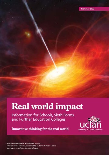 Real World Impact Summer 2013 Newsletter - University of Central ...